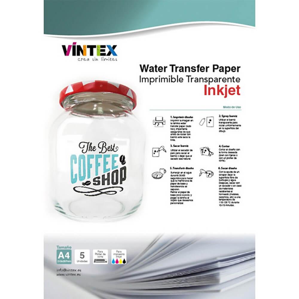 Prosojen Water Transfer Papir – Inkjet