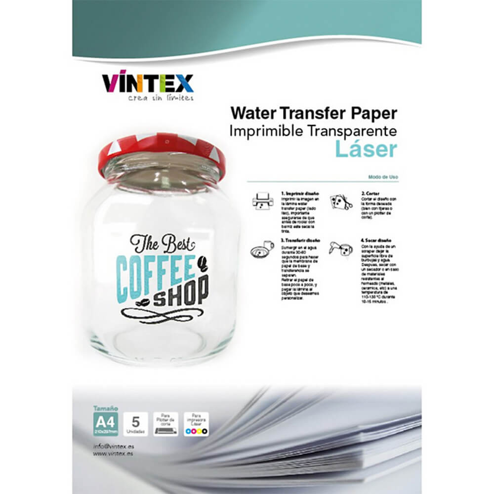 Prosojen water transfer papir - Laser