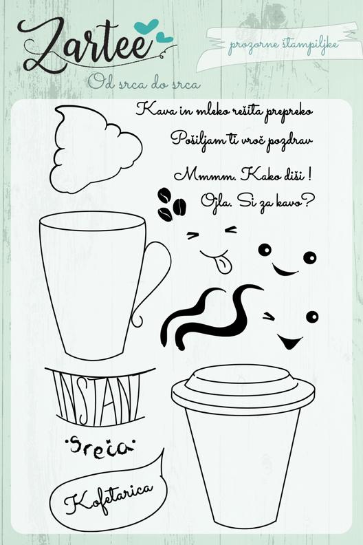 Štampiljke Prosojne – Kofeetee